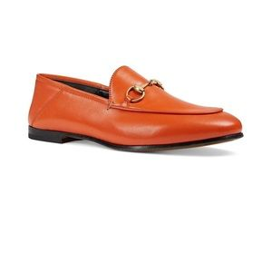 Gucci Brixton Loafers Orange 36.5 6.5 Brand New!